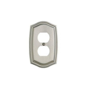 Baldwin 4794.CD Rope Design Double Duplex Outlet Solid Brass Switch plate