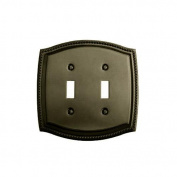 Baldwin 4790.CD Rope Design Double Toggle Solid Brass Switch plate