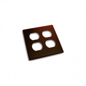 Residential Essentials 10823VB Double Receptacle Outlet Switch Plate, Venetian Bronze