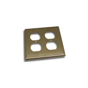 Residential Essentials 10823SN Double Receptacle Outlet Switch Plate, Satin Nickel