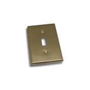Residential Essentials 10813SN Single Toggle Switch Plate, Satin Nickel