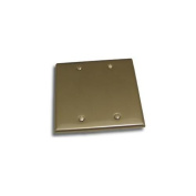 Residential Essentials 10821SN Double Blank Switch Plate, Satin Nickel