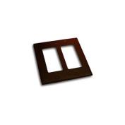 Residential Essentials 10824VB Double Rocker Switch Plate, Venetian Bronze