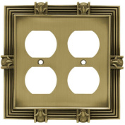 Franklin Brass Pineapple Double Duplex Wall Plate, Available in Multiple Colours