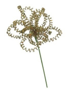 Sugared Fruit Large Gold Glittered Wire Floral Christmas Craft Pick 36cm