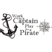 Work Like A Captain Quote Peel-and-Stick Wall Decals