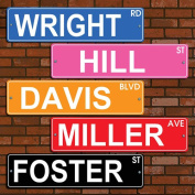 Personalised Colourful Street Sign