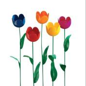 Metal Tulip Stakes, Set of 5