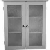 Elegant Home Fashions ELG-581 Connor Wall Cabinet with 2 Glass Doors - White