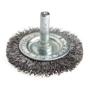 Forney 60014 Wheel Brush Coarse Crimped Wire with 0.6cm Shank 5.1cm