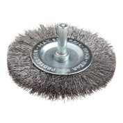 Forney 60017 Wheel Brush Fine Crimped Wire with 0.6cm Shank 7.6cm