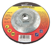 Forney 71819 Grinding Wheel with 1.6cm -11 Threaded Arbour, Metal Type 27, A24R-BF, 11cm -by-0.6cm