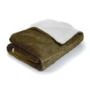 Lavish Home Fleece Blanket with Sherpa Backing - Full-Queen