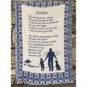 """""""A Son's Reflection"""" Inspirational Poem Blue Two-Layer Jacquard Throw Blanket 120cm X 150cm"""