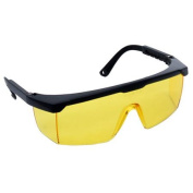 Zen-Tek SG2612 Wrap-Around Safety Glasses with Amber Lens UV- Coating and Adjustable Temples