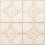 Winton Tile 842138 Floor Tile No Wax Self Stick 30cm X 30cm Almond-Sand