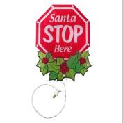 Miles Kimball Shimmer Santa Stop Sign Light