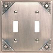 Atlas Homewares Craftsman 2 Toggle Wall Plate 11cm
