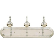Forte Lighting 52703 Functional 3 Light 60cm Wide Bathroom Fixture from the Bath