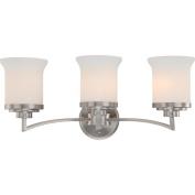 3 Light - Vanity - Fixture - Satin White Glass