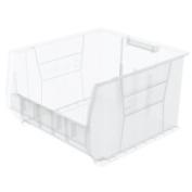 Akro-Mils 30283 Super Size Plastic Stacking Storage AkroBin 50cm D x 46cm W x 30cm H Clear