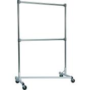 Quality Fabricators 248722W Z-Rack Heavy Duty 120cm Long Base Double Rail w/ 180cm Uprights Whit