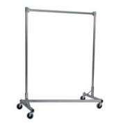 Quality Fabricators 248601S Z-Rack Heavy Duty 120cm Long Base Single Rail w/ 150cm Uprights Silv