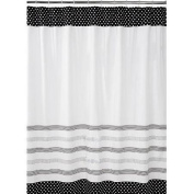 Mainstays Black and White Shower Curtain