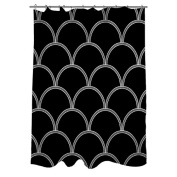 Thumbprintz Art Deco Circles Black and white Shower Curtain, 180cm x 190cm