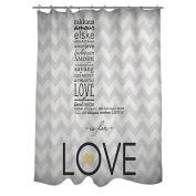 Thumbprintz L is for Love Shower Curtain, 180cm x 190cm