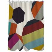 Thumbprintz Poly Rhythmic 2 Shower Curtain, 180cm x 190cm