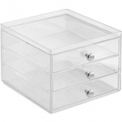 InterDesign Storage and Organisation Drawers, 3-Drawer Slim