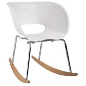 Fine Mod Vac Rocker Arm Chair, White