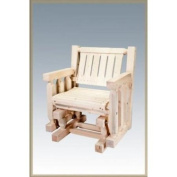 Montana Woodworks MWHCSSGNR Single Seat Glider Homestead Collection Ready To Finish