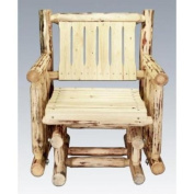 Montana Woodworks MWSSGNR Single Seat Glider Montana Collection Ready To Finish