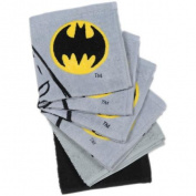 Batman Logo 6-Pack Wash Cloth Set