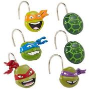 Nickelodeon Teenage Mutant Ninja Turtles Resin Shower Curtain Hooks