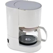 National Brand Alternative 632603 Coffee Maker 4-Cup White