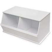 Badger Basket 2-Bin Storage Cubby, White