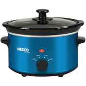 Nesco SC-150B 1.4l Oval Slow Cooker, Metallic Blue