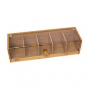 Lipper International Bamboo and Acrylic Tea Box
