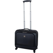 Protege 46cm Hard-Side Rolling Briefcase with Laptop Section, Black