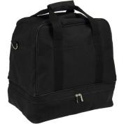 Black Weekender Bag with Shoe Pocket and Expandable Shoulder Strap