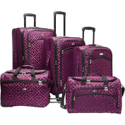 American Flyer Astor Collection 5 Piece Spinner Luggage Set