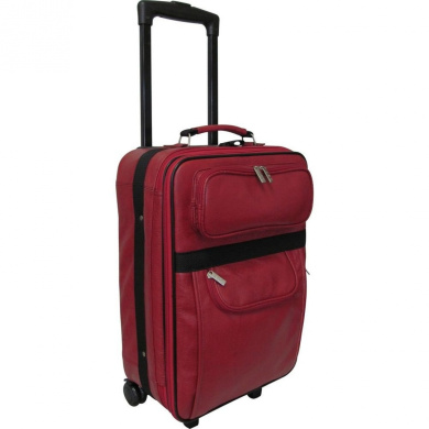 AmeriLeather Leather 50cm Expandable Carry On Pullman