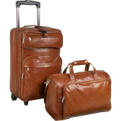 AmeriLeather Leather 2 Pc. Carry-On Set