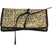 Jewellery Roll with Tie Closure, Leopard Print