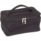 Black Expandable Bag with Portable Mirror