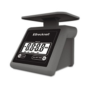 Salter Brecknell PS7 Electronic Postal Scale, 3.2kg Capacity, 6 4/5 x 5 3/5 Platform, Grey