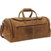 Le Donne Leather Distressed Leather Overnighter Duffel